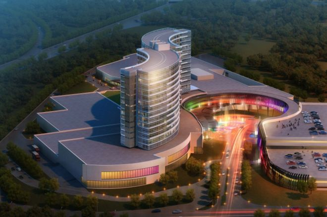 An artist's rendering of the planned-for casino in Taunton, Mass.