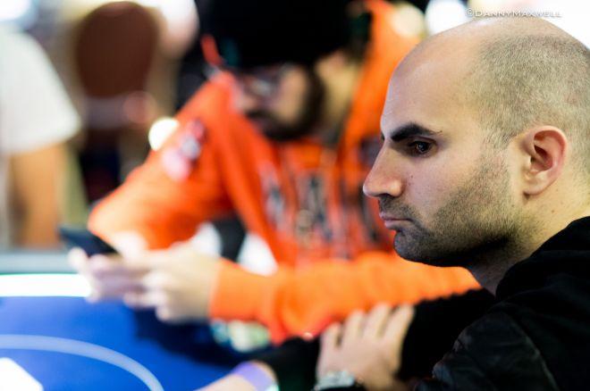 Sylvain Loosli chipleader de l'Event #35, un 6-Max à 5000$ avec un field de rêve 0001