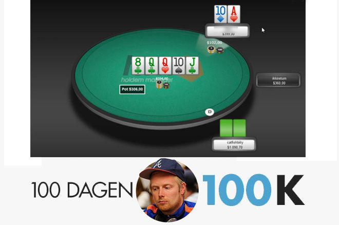 100 dagen $100k - Een pair omzetten in een bluf in een 3-bet of 4-bet pot