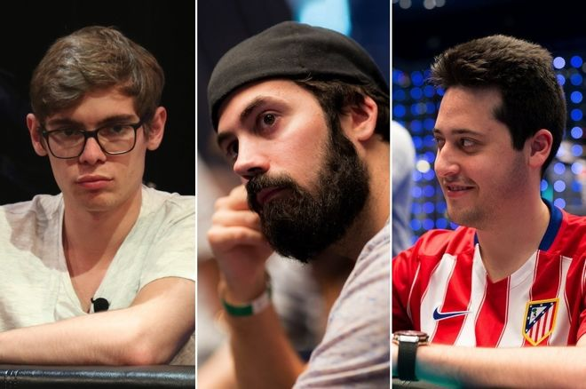 Fedor Holz (left), Jason Mercier (center), Adrian Mateos (right)