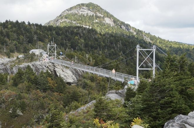 The Swinging Bridge at Grandfather Mountain