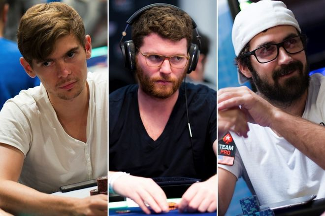 Fedor Holz, Nick Petrangelo, and Jason Mercier