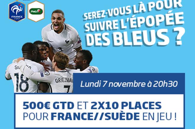 France - Suède : Supportez les Bleus avec PMU Poker 0001