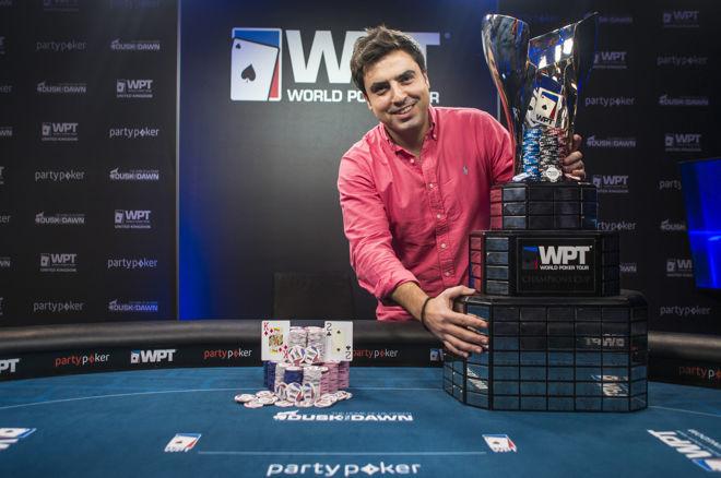 PokerNews Boulevard - Luis Rodriguez Cruz wint 2016 partypoker WPT UK Main Event voor £200.000!