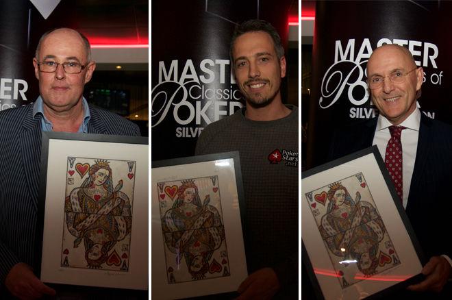 Lex Veldhuis, Rob Hollink en Peter Voolstra in de Nederlandse Poker Hall of Fame