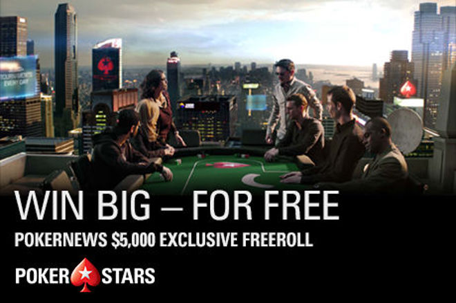 $5,000 PokerStars Freeroll