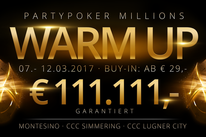 partypoker millions warm up