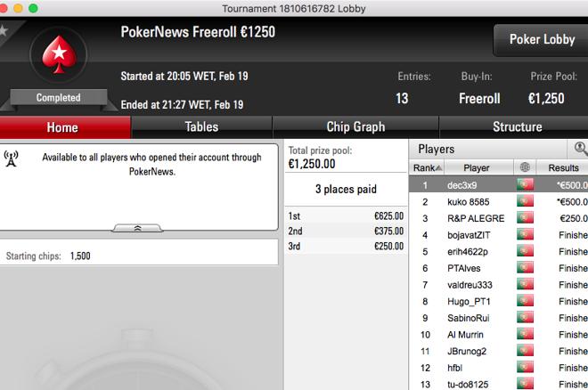 freeroll pokerstars pokernews