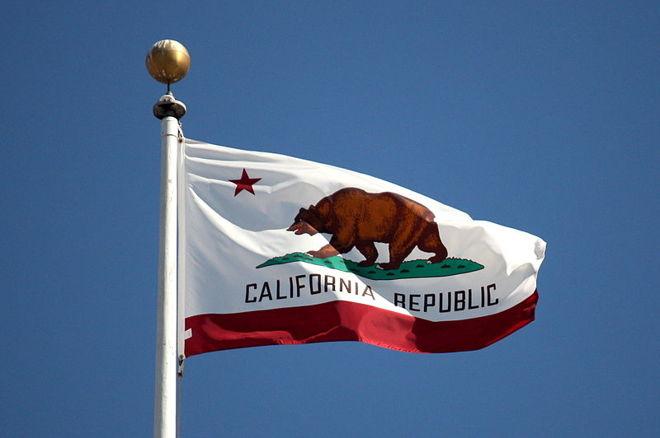online poker California flag