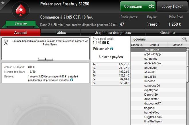 Jouez 1 cent sur PokerStars et empochez votre part des 1250€ garantis 0001
