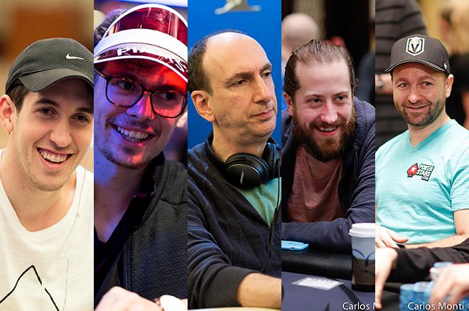 Dan Colman, Fedor Holz, Erik Seidel, Steve O'Dwyer and Daniel Negreanu