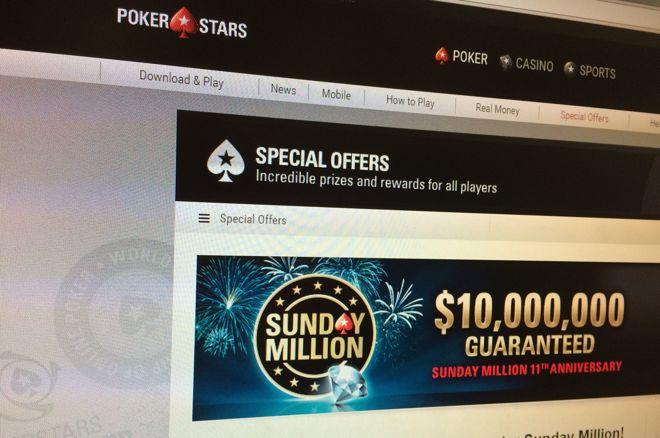 PokerStars viert elfde verjaardag van Sunday Million met speciale editie en $10.000.000!