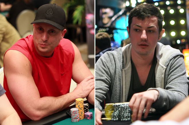 Mike Dentale (left), Tom Dwan (right)