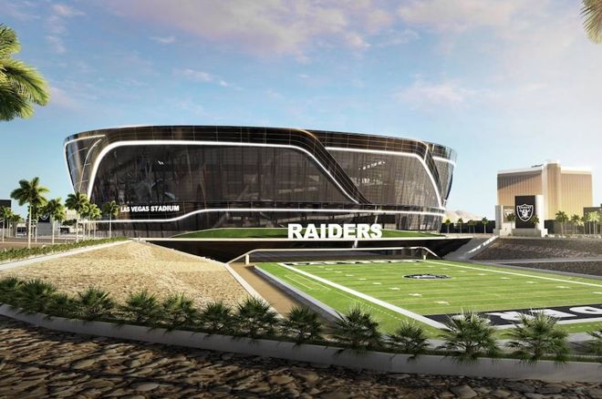 A rendering of the new Las Vegas NFL stadium (MANICA architecture)