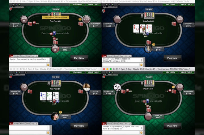 Pot-Limit Omaha Spin & Go Strategy on PokerStars