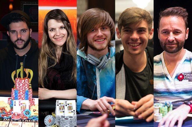 Salomon Ponte, Maria Lampropulos, Charlie Carrel, Fedor Holz and Daniel Negreanu