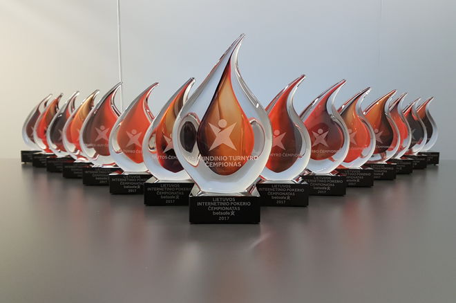 Lithuanian Online Poker Championship Trophies