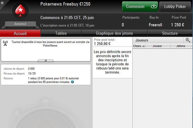 PokerStars : Misez 1 cent et empochez votre part des 1250€ garantis 0001