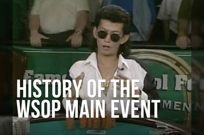 Scotty Nguyen during the last hand of the 1998 WSOP Main Event
