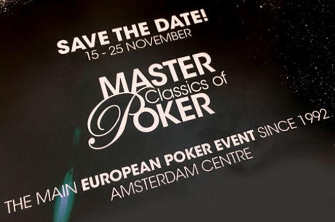 Holland Casino maakt schema van 2017 Master Classics of Poker (15-25 november) bekend!