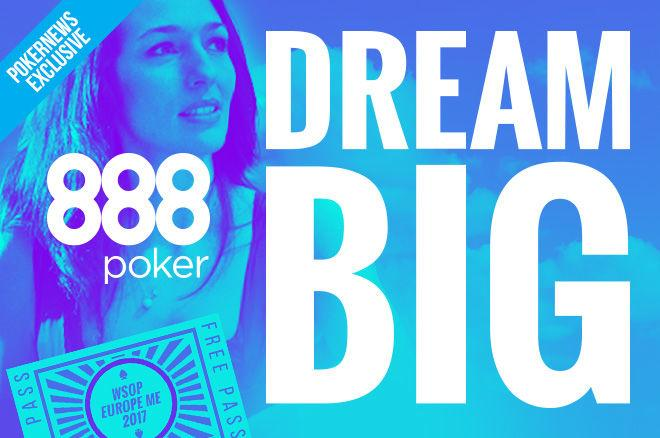 Turn $1 into a WSOP Europe Main Event Package at 888poker! 0001