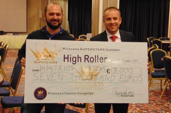 Ο Δημήτρης Γκατζάς κατακτά το €550 High Roller του October... 0001