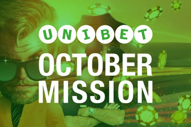 Complete Missions at Unibet Poker for Free Spins and More in October 0001