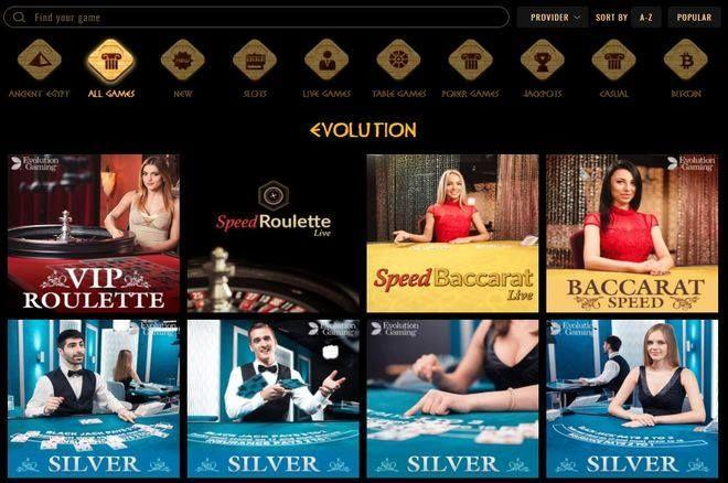 Cleopatra Online Casino Adds Live Casino Games by Evolution Gaming 0001