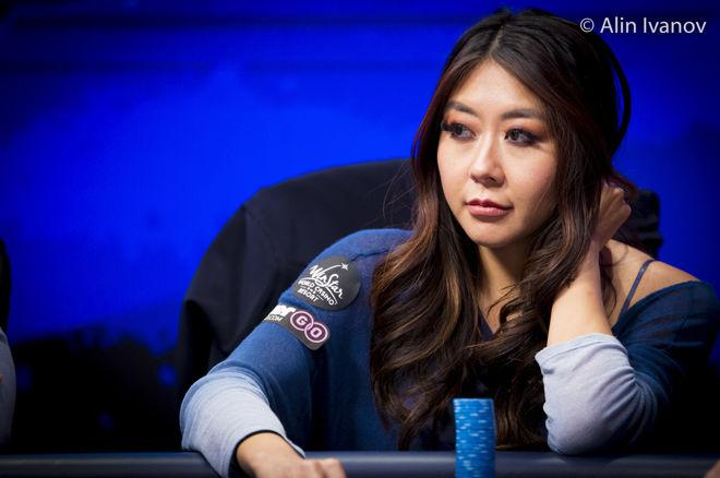 Hand Analyse - Maria Ho gooit haar set weg diep in het WSOPE Main Event