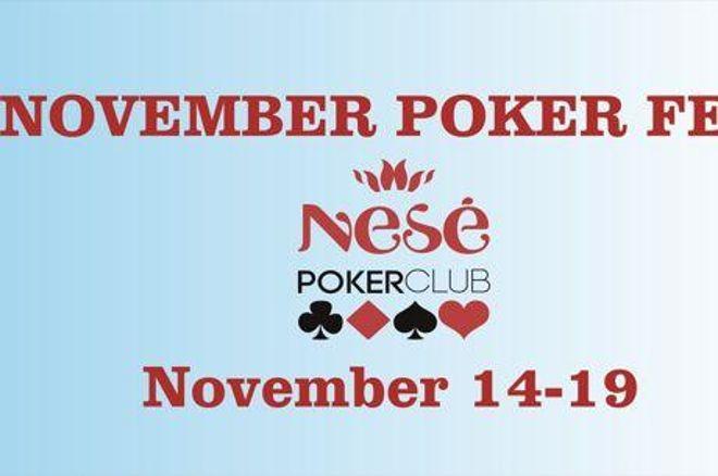 """""""November Poker Fest"""" startas - jau rytoj 0001"""