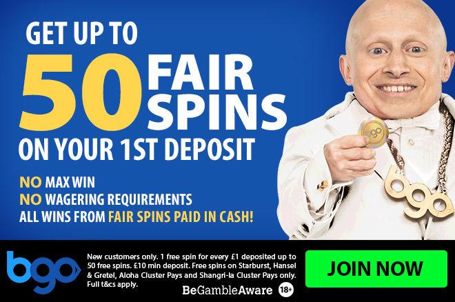BGO Casino NO Wagering Requirements