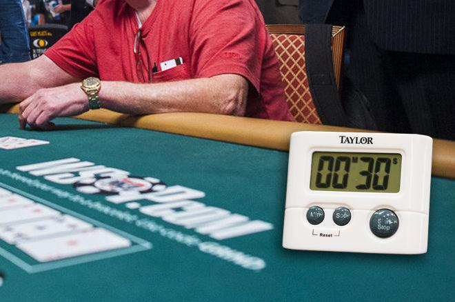 WSOP 2018 shot clock