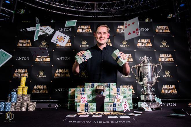2018 Aussie Millions winner Toby Lewis