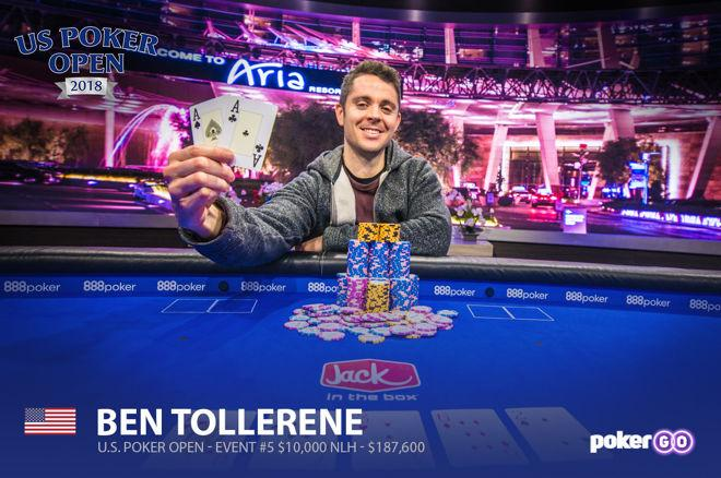 Ben Tollerene at the US Poker Open