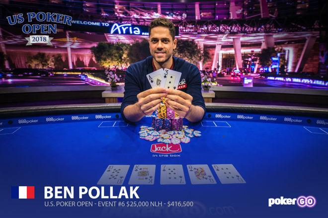 US Poker Open - Overwinningen voor Benjamin Pollak & Ben Tollerene, Chidwick blijft domineren