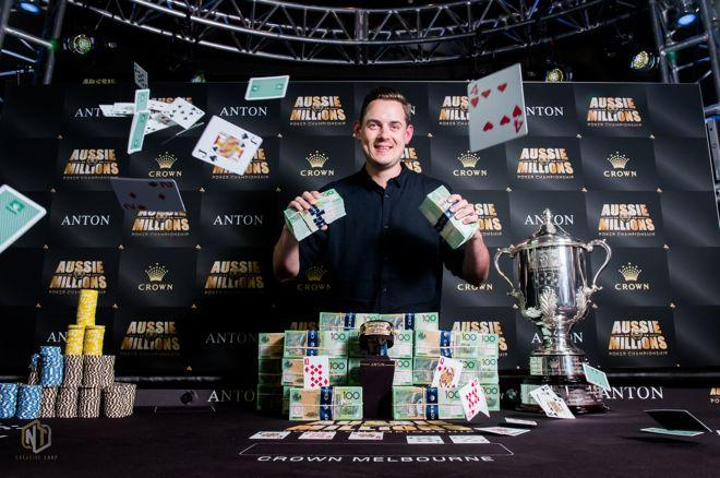 Toby Lewis at the 2018 Aussie Millions