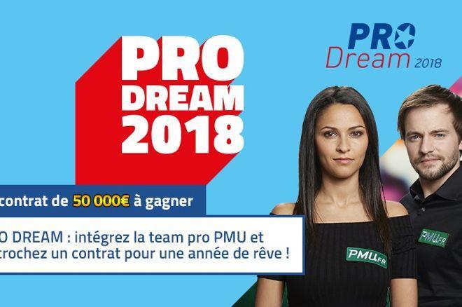PRODream 2018 : Un contrat de 50.000€ à gagner sur PMU Poker 0001