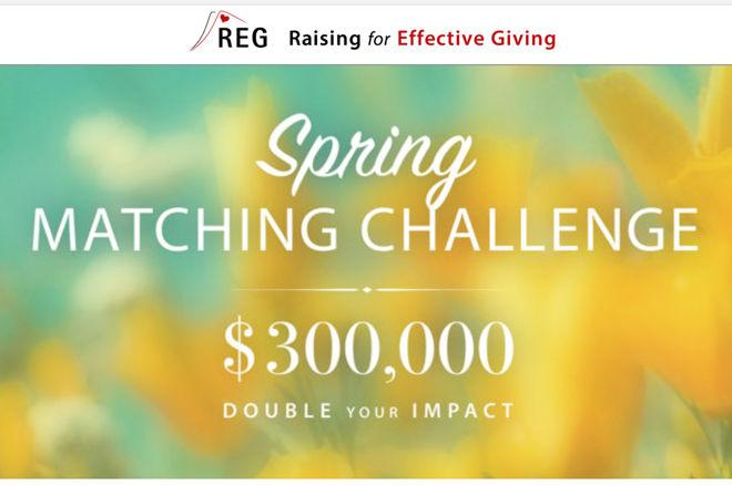 REG Charity Spring Matching Challenge