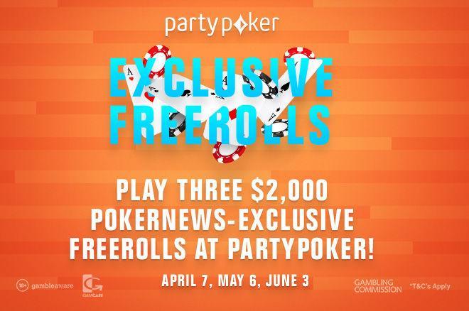 partypoker $2,000 PokerNews Freerolls
