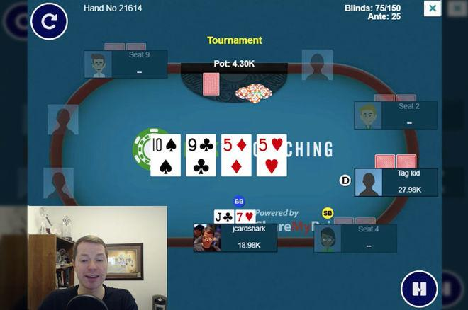 Check-Raising the Flop With a Gutshot and Overcard