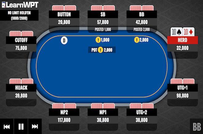 Tournament Strategy: How to Play Pocket Tens With 16 Big Blinds