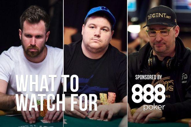 John Racener (left), Shaun Deeb (center), Phil Hellmuth (right)