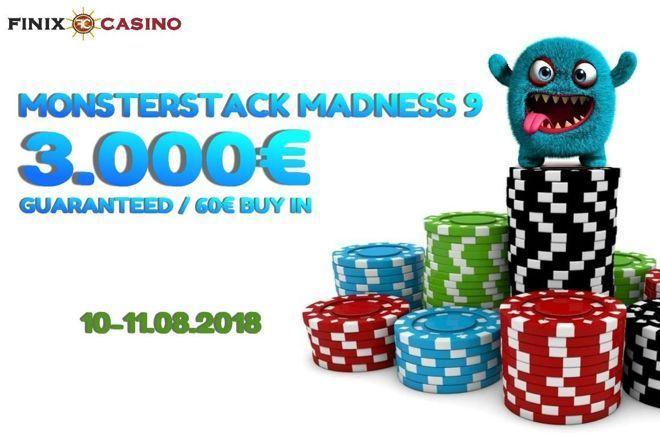 Σήμερα στις 19:00 η Day 1A του Monsterstack Madness #9 στο Finix Casino 0001