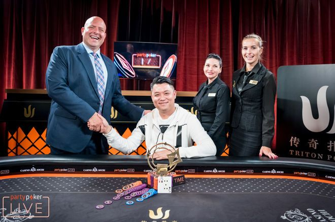 Ivan Leow Wint €940,968 in Triton Poker Super High Roller 0001