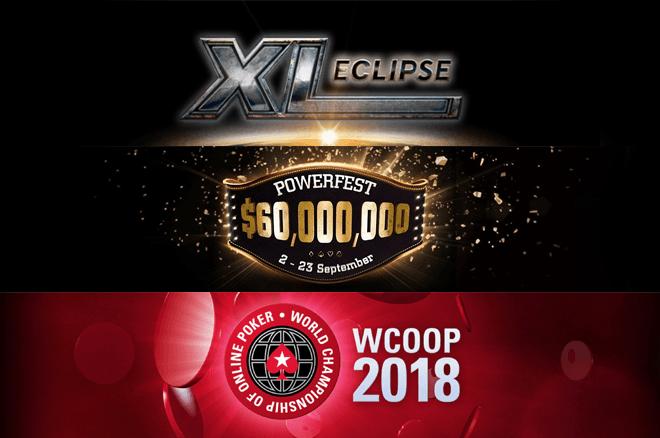888poker XL Eclipse, partypoker Powerfest, PokerStars WCOOP schedule