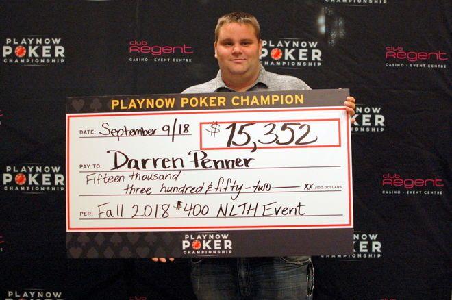 Darren Penner PlayNow Poker Championship Club Regent Casino