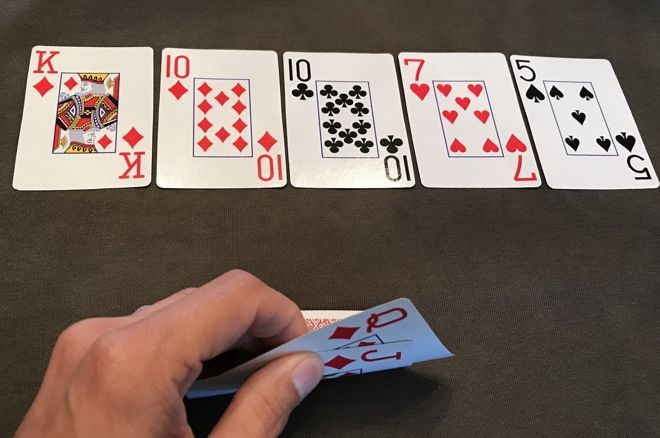 A Royal Flush Draw That Doesn't Get There: Bluff River or Give Up?