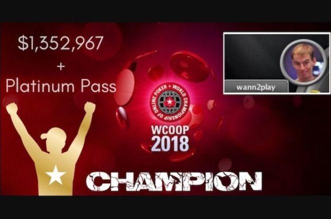 WCOOP Main Event : Le Néerlandais wann2play transforme 530$ en 1,3 million 0001
