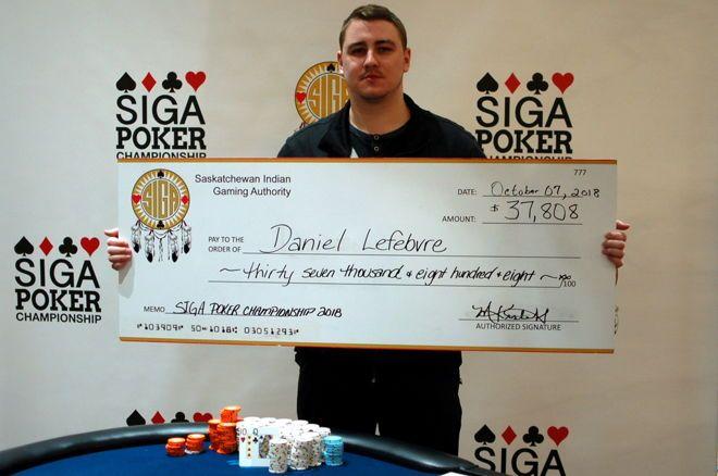 Daniel Lefebvre SIGA Poker Championship Dakota Dunes Casino