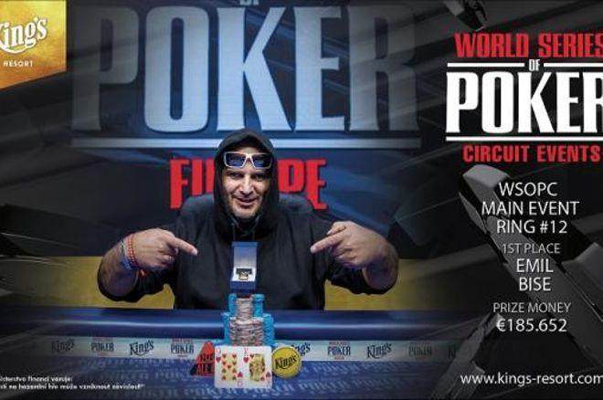 WSOPC King's : Le Main Event et 185.652€ pour Emil Bise, le Français Fabien Motte 3e 0001